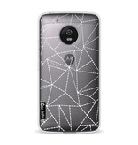 Casetastic Softcover Motorola Moto G5 - Abstract Dotted Lines Transparent