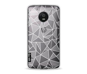 Abstraction Lines White Transparent - Motorola Moto G5