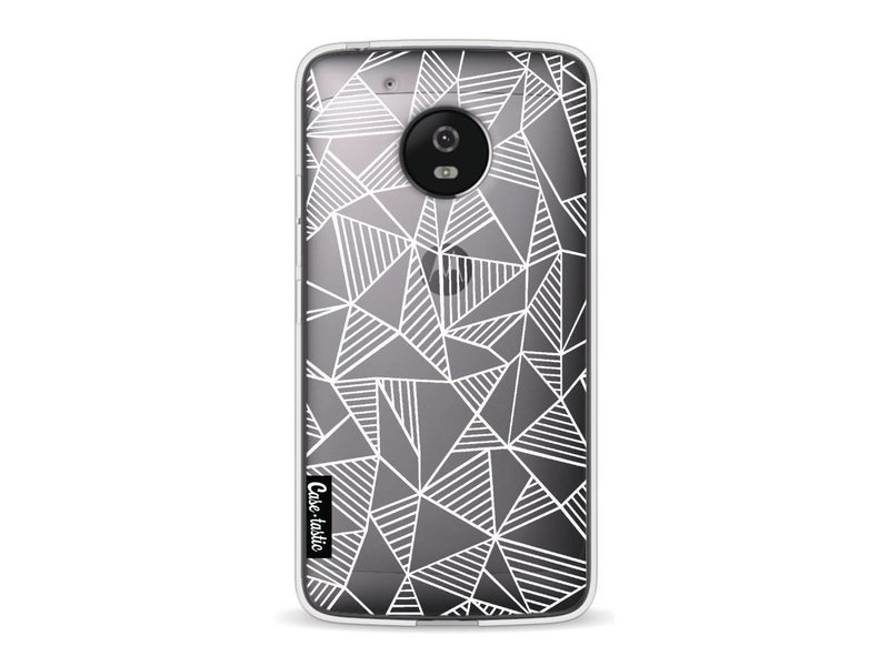 Casetastic Softcover Motorola Moto G5 - Abstraction Lines White Transparent