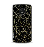 Casetastic Softcover Motorola Moto G5 - Abstraction Outline Gold