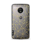 Casetastic Softcover Motorola Moto G5 - Abstraction Outline Gold Transparent