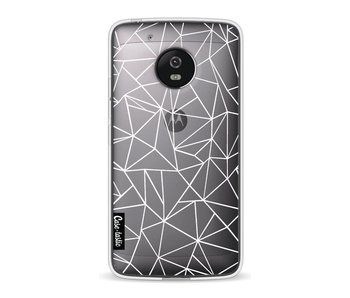 Abstraction Outline White Transparent - Motorola Moto G5