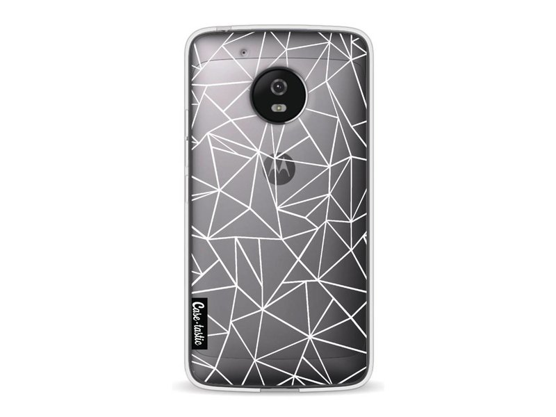 Casetastic Softcover Motorola Moto G5 - Abstraction Outline White Transparent