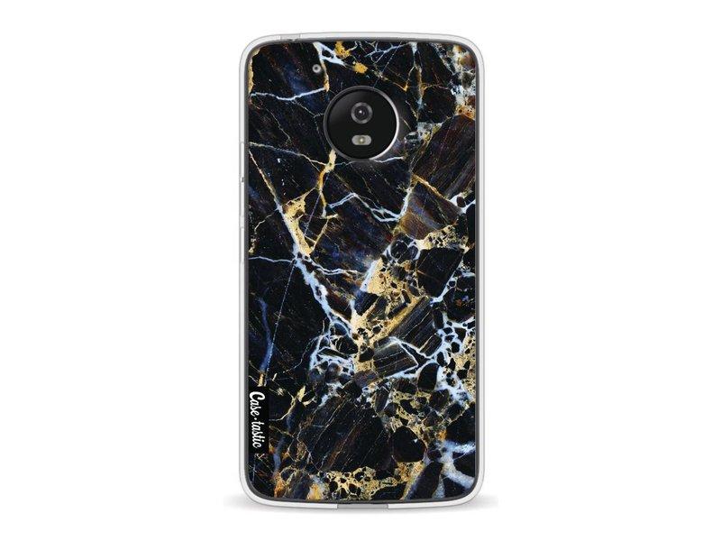 Casetastic Softcover Motorola Moto G5 - Black Gold Marble