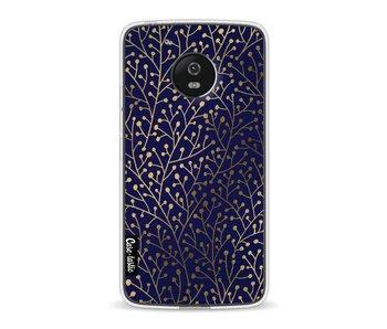 Berry Branches Navy Gold - Motorola Moto G5