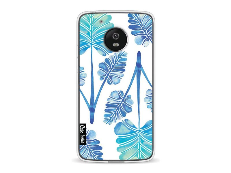 Casetastic Softcover Motorola Moto G5 - Blue Ombre Palm Leaf Trifecta Pattern