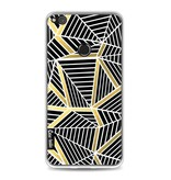 Casetastic Softcover Huawei P8 Lite (2017) - Abstraction Lines Black Gold