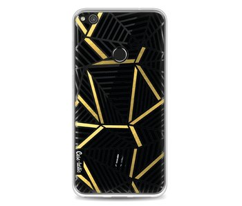 Abstraction Lines Black Gold Transparent - Huawei P8 Lite (2017)
