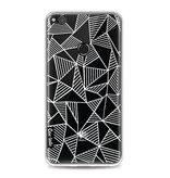 Casetastic Softcover Huawei P8 Lite (2017) - Abstraction Lines White Transparent