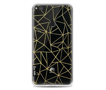 Abstraction Outline Gold Transparent - Huawei P8 Lite (2017)