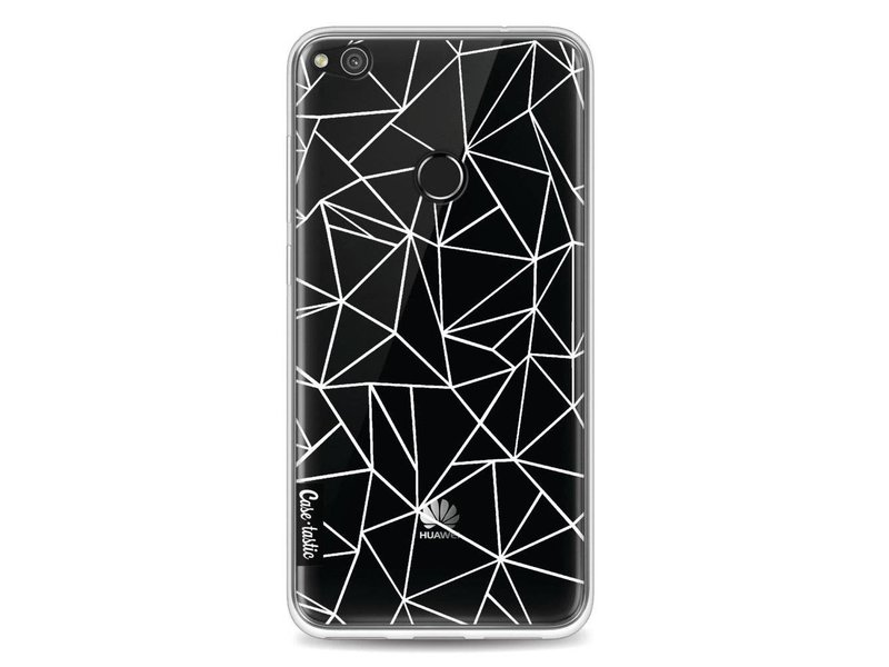 Casetastic Softcover Huawei P8 Lite (2017) - Abstraction Outline White Transparent