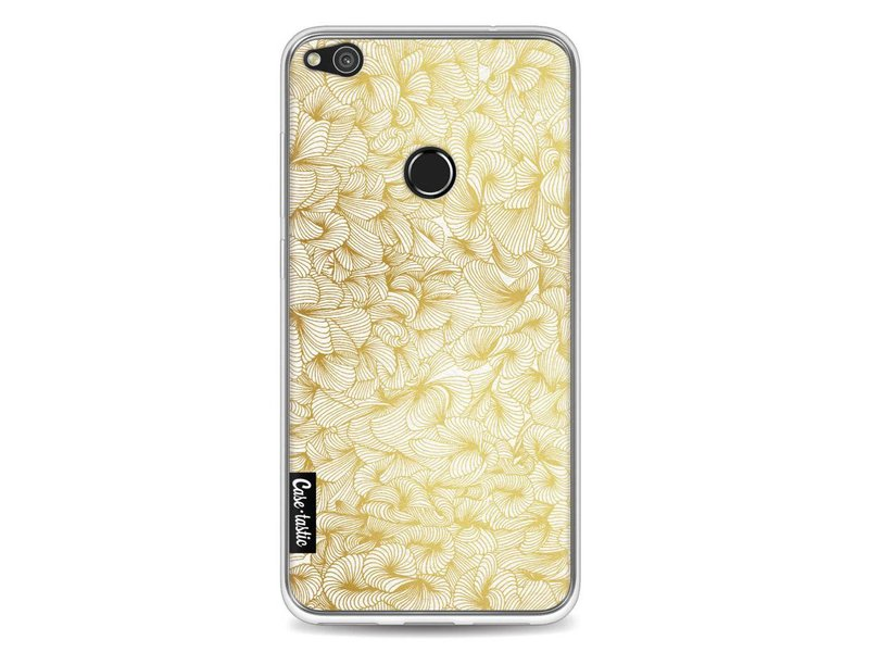 Casetastic Softcover Huawei P8 Lite (2017) - Abstract Pattern Gold