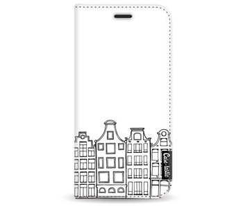 Amsterdam Canal Houses - Wallet Case White Samsung Galaxy A3 (2017)