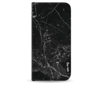 Black Marble - Wallet Case Black Apple iPhone 6 / 6S