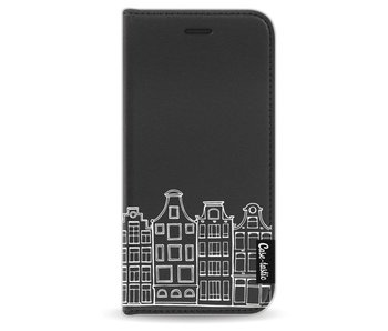 Amsterdam Canal Houses White - Wallet Case Black Apple iPhone 6 / 6S