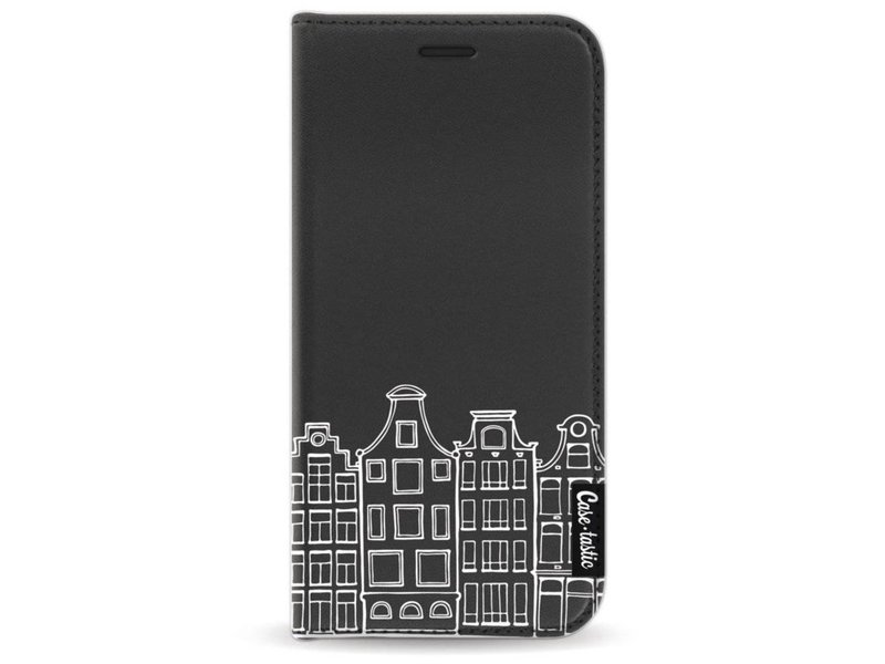 Casetastic Wallet Case Black Samsung Galaxy A3 (2017) - Amsterdam Canal Houses White