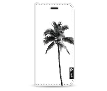 Palm Tree Transparent - Wallet Case White Samsung Galaxy S8