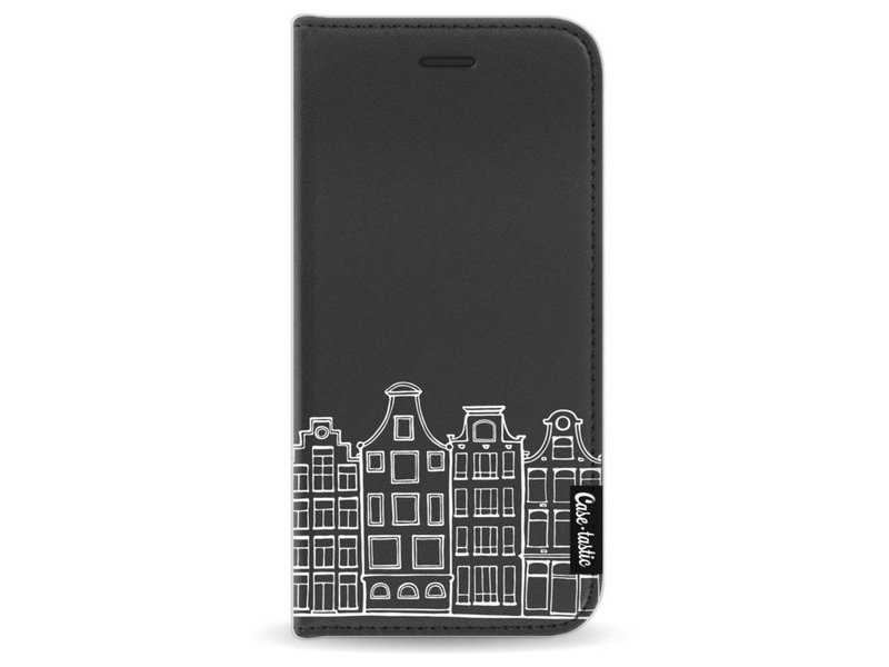 Casetastic Wallet Case Black Apple iPhone 7 / 8 - Amsterdam Canal Houses White