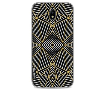 Abstraction Half Gold - Samsung Galaxy J7 (2017)