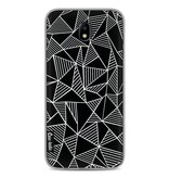 Casetastic Softcover Samsung Galaxy J7 (2017) - Abstraction Lines Black