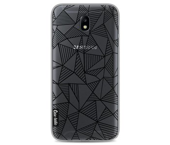 Abstraction Lines Black Transparent - Samsung Galaxy J7 (2017)