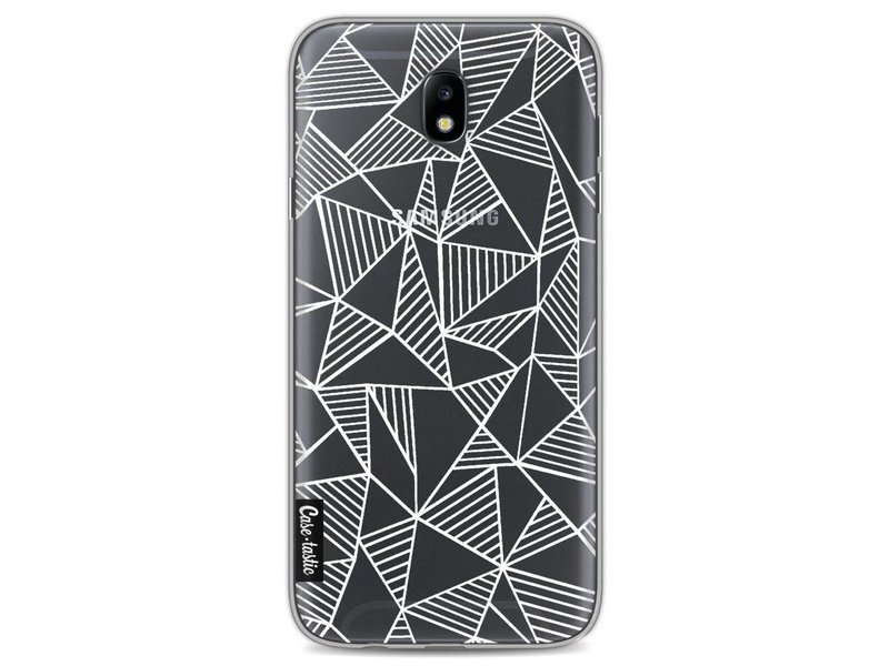 Casetastic Softcover Samsung Galaxy J7 (2017) - Abstraction Lines White Transparent
