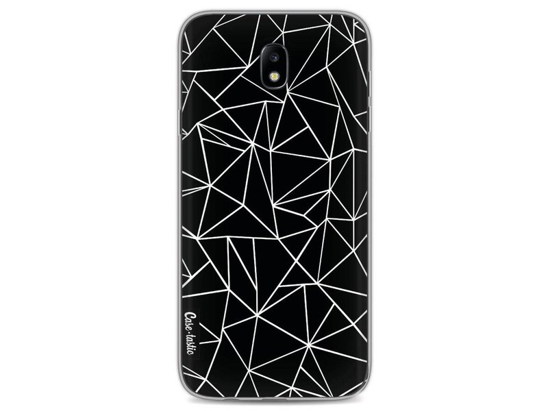 Casetastic Softcover Samsung Galaxy J7 (2017) - Abstraction Outline Black