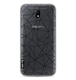 Casetastic Softcover Samsung Galaxy J7 (2017) - Abstraction Outline Black Transparent