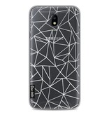 Casetastic Softcover Samsung Galaxy J7 (2017) - Abstraction Outline White Transparent