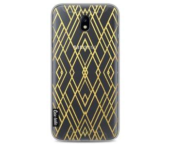 Art Deco Gold Transparent - Samsung Galaxy J7 (2017)
