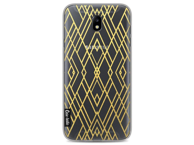 Casetastic Softcover Samsung Galaxy J7 (2017) - Art Deco Gold Transparent