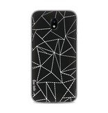 Casetastic Softcover Samsung Galaxy J5 (2017) - Abstract Dotted Lines Black