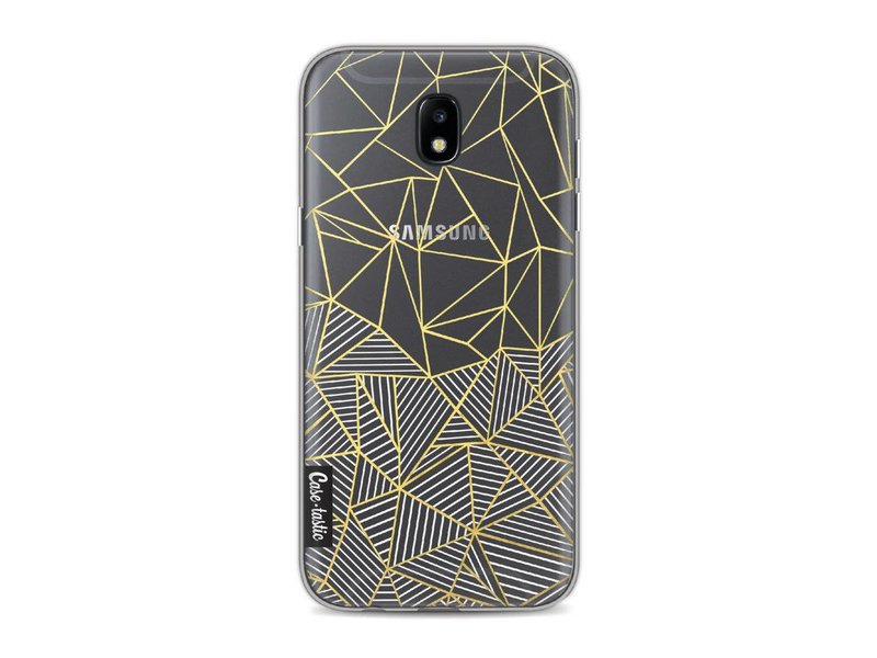 Casetastic Softcover Samsung Galaxy J5 (2017) - Abstraction Half Half Transparent