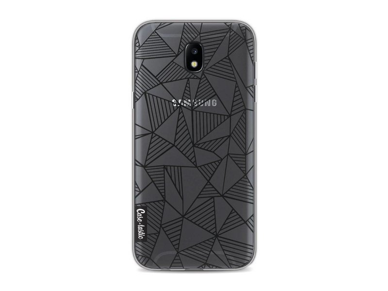 Casetastic Softcover Samsung Galaxy J5 (2017) - Abstraction Lines Black Transparent