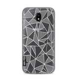 Casetastic Softcover Samsung Galaxy J5 (2017) - Abstraction Lines White Transparent