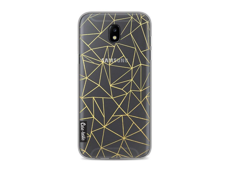 Casetastic Softcover Samsung Galaxy J5 (2017) - Abstraction Outline Gold Transparent