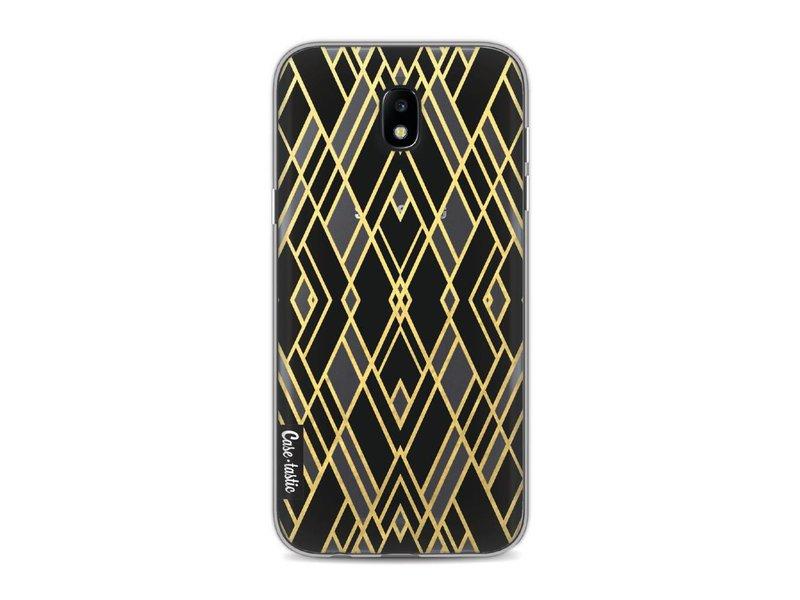 Casetastic Softcover Samsung Galaxy J5 (2017) - Art Deco Gold Black Transparent