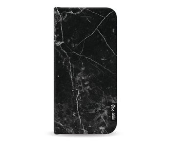 Black Marble - Wallet Case Black Apple iPhone 7 / 8