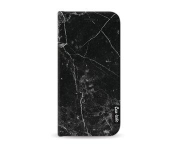 Black Marble - Wallet Case Black Samsung Galaxy A3 (2017)