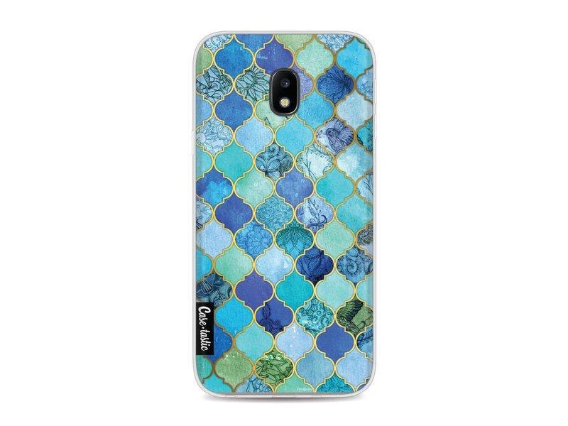 Casetastic Softcover Samsung Galaxy J3 (2017)  - Aqua Moroccan Tiles