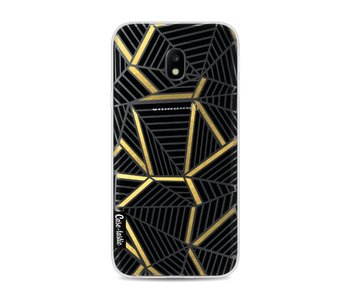 Abstraction Lines Black Gold Transparent - Samsung Galaxy J3 (2017)