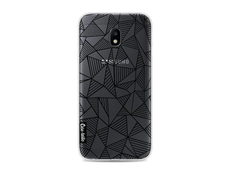 Casetastic Softcover Samsung Galaxy J3 (2017)  - Abstraction Lines Black Transparent