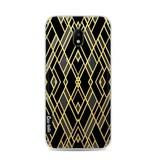 Casetastic Softcover Samsung Galaxy J3 (2017)  - Art Deco Gold Black Transparent