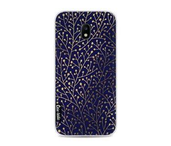 Berry Branches Navy Gold - Samsung Galaxy J3 (2017)