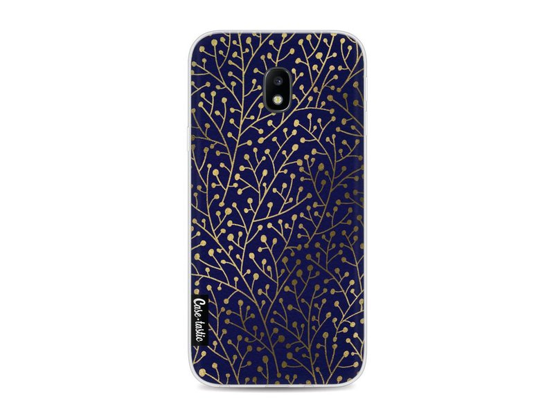 Casetastic Softcover Samsung Galaxy J3 (2017)  - Berry Branches Navy Gold