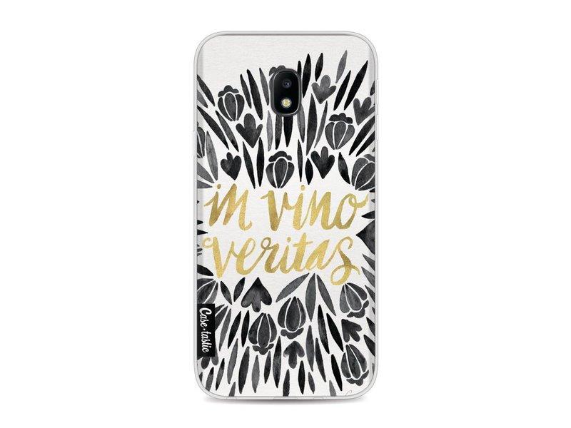 Casetastic Softcover Samsung Galaxy J3 (2017)  - Black Vino Veritas Artprint