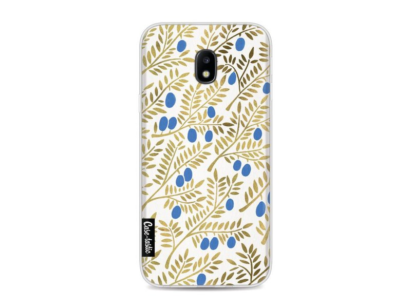 Casetastic Softcover Samsung Galaxy J3 (2017)  - Blue Gold Olive Branches Artprint