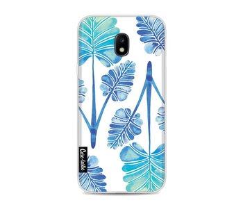 Blue Ombre Palm Leaf Trifecta Pattern - Samsung Galaxy J3 (2017)
