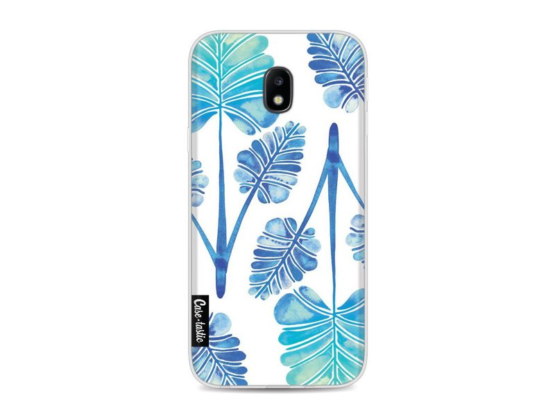 Casetastic Softcover Samsung Galaxy J3 (2017)  - Blue Ombre Palm Leaf Trifecta Pattern