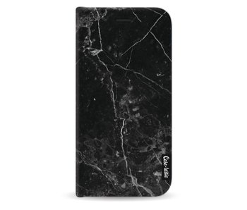 Black Marble - Wallet Case Black Samsung Galaxy J3 (2017)